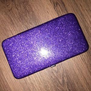 Purple Glitter Clutch